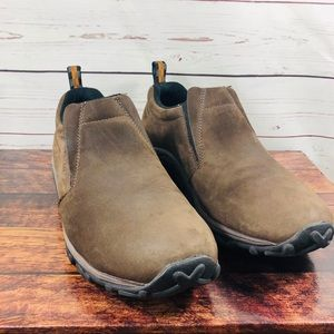 Merrell Mens Slip On Suede Leather Brown Sz 10.5